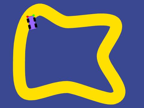 模拟巡线小车(围栏赛道2个传感器)
